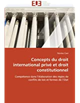 Concepts Du Droit International Prive Et Droit Constitutionnel