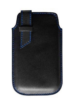 Blautel iPhone Funda 4-Ok StriP Negro/Azul