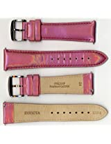 Invicta Genuine Unisex 24mm Pink Pearlized Shiny Leather Watch Strap IS315