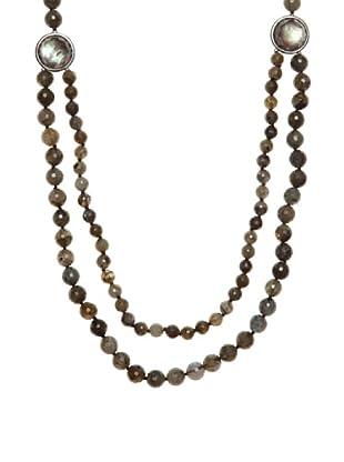 Luxenter Collar Menja Madreperla Negra Labradorita