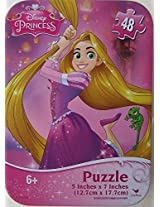 Disney Princess Mini Jigsaw Puzzle In Tin Box 48 Pieces