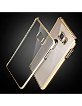 Kapa Electroplated Edge Ultra Thin TPU Flexible Back Case Cover for Samsung Galaxy Note 5 - Gold