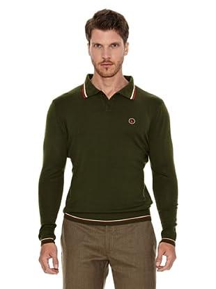 El Ganso Jersey Cuello Polo (Verde)
