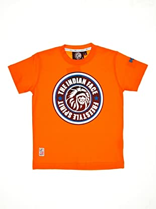 The Indian Face Camiseta Escudo (Naranja)