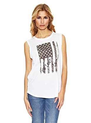 US Polo Assn Camiseta Bandera USA (Blanco)