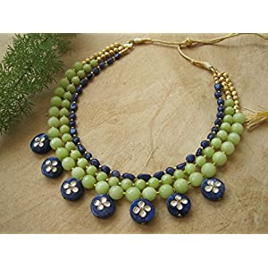 Dreamz Jewels Mint Green Agate Necklace