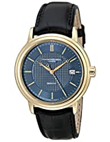 Raymond Weil Mens 2837-PC-50001 Maestro Gold-Tone Stainless Steel Watch with Black-Leather Strap