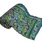 Little India Jaipuri Handblock Cotton Double Razai Quilt (DLI3DRZ303)