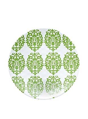 Q Squared NYC Victorian Lite Melamine Salad Plate, Green/White
