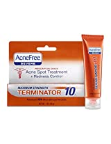 Acnefree Spot Treatments Terminator 10 Maximum Strength 10%, 1 Ounce