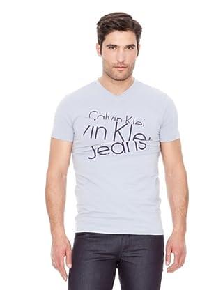 Calvin Klein Jeans Camiseta Stretch Cut V M / C (Gris Claro)