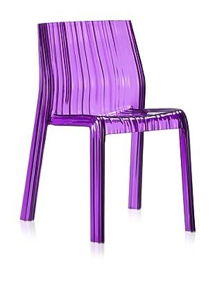 Zuo Set of 4 Ruffle Dining Chair (Purple)