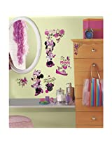 RoomMates Minnie Fashionista Wall Decals (Multi Color)