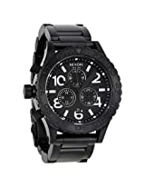 Nixon 42-20 Chrono Black Dial Steel Men's Watch - Nxa037001