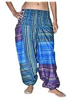 Famacart Women Tie dye Harem Pant Free Size Blue summer trouser