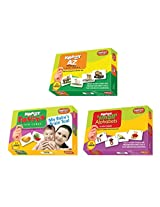 Krazy flash cards Set of 3(A to Z Animals,Small Alphabet,Fruits)