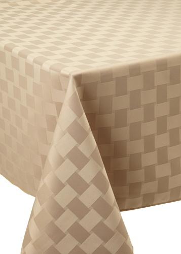 Bardwil Reflections Oblong Tablecloth (Khaki)