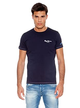 Pepe Jeans London Camiseta Number 1 Tee By Pjl (Azul)