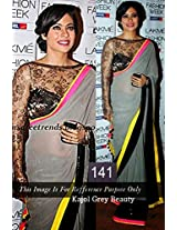 Bollywood Kajol Grey Saree