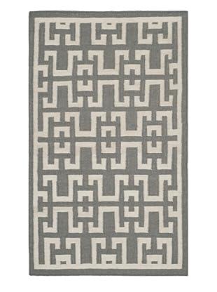 Safavieh Dhurrie Rug (Soft Grey/Ivory)