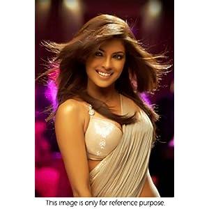 Bollywood Replica Priyanka Chopra Net Saree In Beige Colour NC199