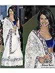 Priyanka chopra iifa award 2011 white and blue lehenga
