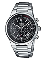 Casio Edifice Analog Black Dial Men's Watch - EF-500D-1AVDF (ED107)