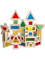 Guidecraft Jr. Rainbow Blocks: 40 Piece Set G3083