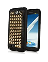 BoxWave Samsung Galaxy Note 2 StudChic Case - Premium TPU Rubber and Leather Case for Rocking Style and Rock Solid Protection - Samsung Galaxy Note 2 Cases and Covers (Glam Gold)