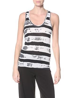 skin Women's Racerback Tank (White/Black)
