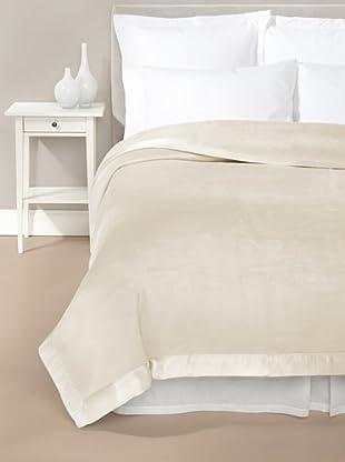 Mélange Home Chelsea Silk-Blend Blanket (Pearl)