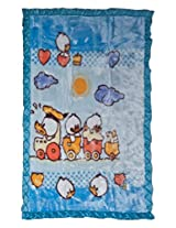 Mee Mee Fine Fur and Velvet Blankets for New Born Babies (Blue)