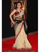Rani Mukharjee In Black And Cream Net Sari