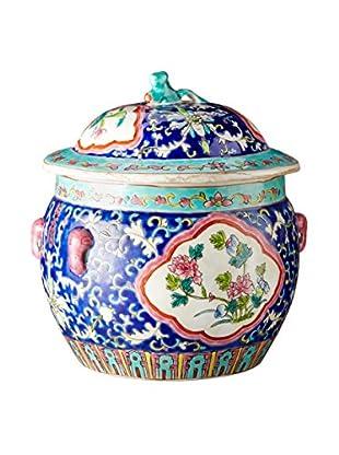Dynasty Gallery Floral Porcelain Jar Blue