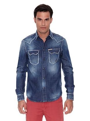 Pepe Jeans London Camisa Newton (Vaquero)