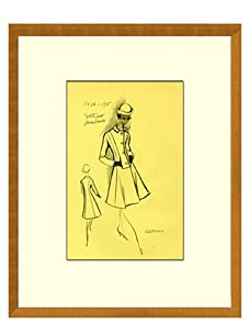 Vintage Women's Castillo Fashion Sketch c.1968