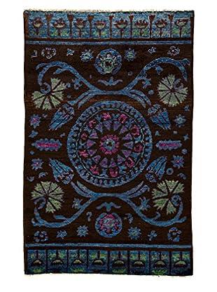 Darya Rugs Kaitag Oriental Rug, Brown, 5' x 7' 9