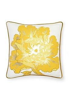 "Antonio Aguilar Grecian Peony Pillow, Gold, 20"" x 20"""