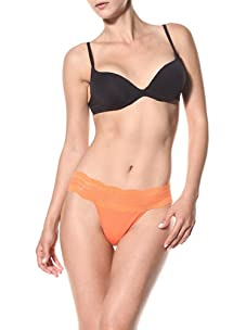 Cosabella Women's Dolce Thong (Pack of 2) (Flame Orange & Frosty Lavender)
