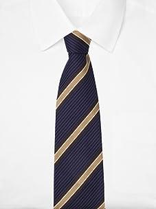 Pal Zileri Men's Pinstripe Tie (Dark Blue)