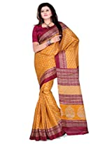 Cenizas Cotton Silk Saree With Blouse Piece (3305Ylow -Yellow)