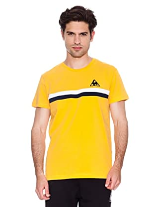 Le Coq Sportif Camiseta Bondeau (Amarillo / Negro)