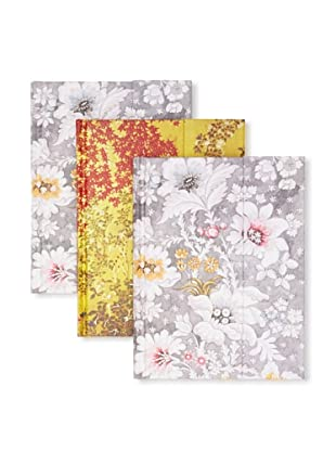 Peter Pauper Press Set of 3 Flower Journals