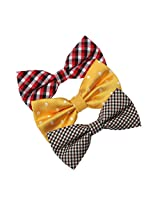 DBE0181 Boxing Day Microfiber Bow ties Discount Stain Pre-Tied Bow Ties 3 Pack Bow Tie Set By Dan Smith