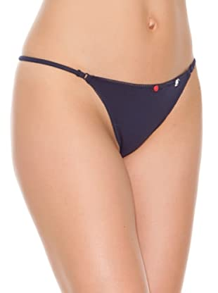 Women secret Tanga Tira New Plain (Azul)