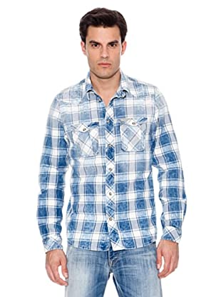 Pepe Jeans London Camisa Ruction (Azul / Blanco)