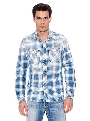 Pepe Jeans Freizeithemd Ruction (Blau/Weiß)