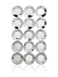 Tribeca Hammered Design Nickel Wall Mirror (Silver)
