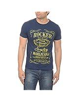 Drastic Men's Cotton Half Sleeve T-Shirt (Size - XX-Large, Blue)