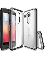 Nexus 5X Case, Ringke FUSION ** Shock Absorption Technology** [FREE Screen Protector][SMOKE BLACK] Anti-Scratch Clear Back Drop Protection Bumper Case for Google Nexus 5X 2015 (NOT for Nexus 5 2013)
